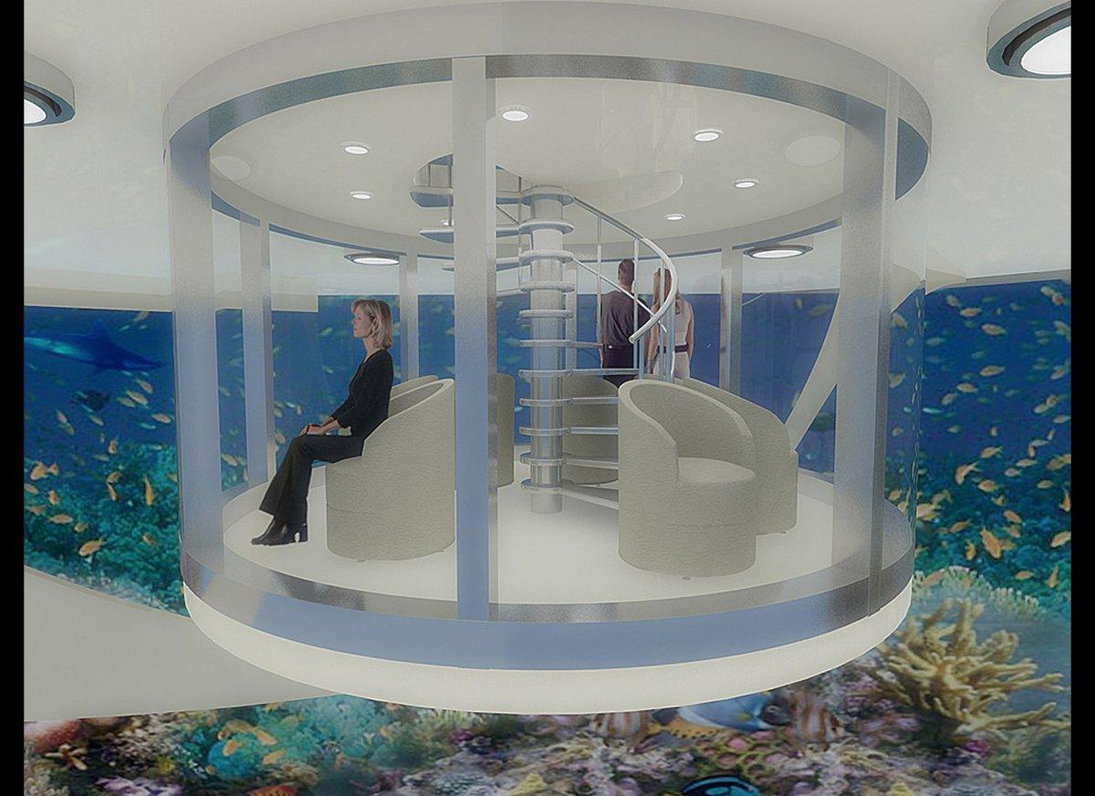 Floating Underwater Hotel Room