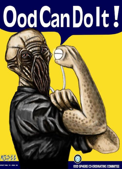 Ood can do it all night.