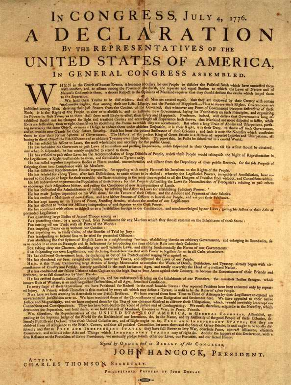 example of decleration of independence Declaration of independence essay examples 504 words 3 pages rights of the  people a democracy is a system of government controlled by the people, not.