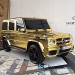 Gold plated Benz