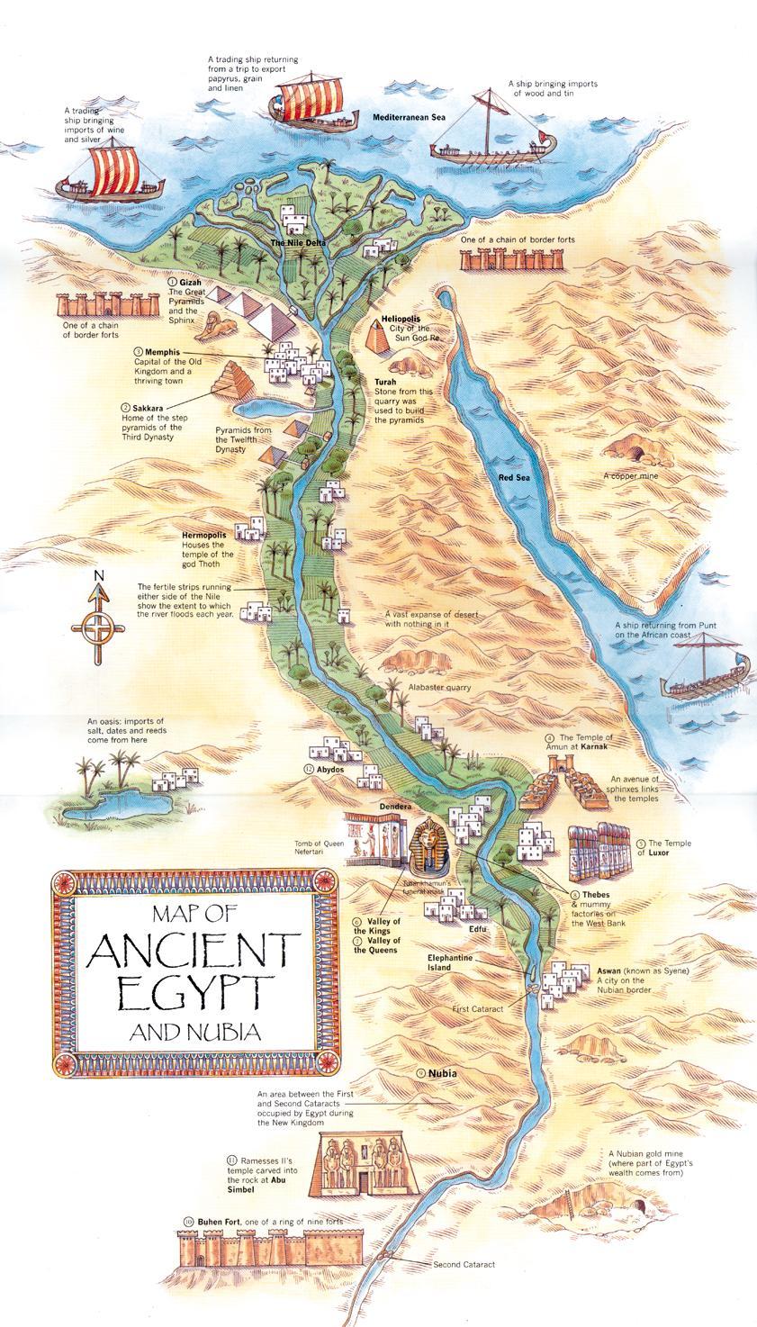 Map of Ancient Egypt Michael Bradley Time Traveler