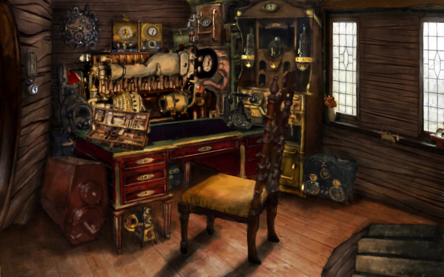Steampunk laboratory awesome steampunk room by