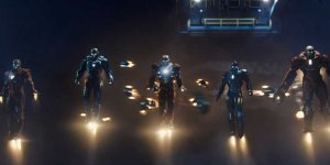 An army of Iron Men suits appear for the finale.