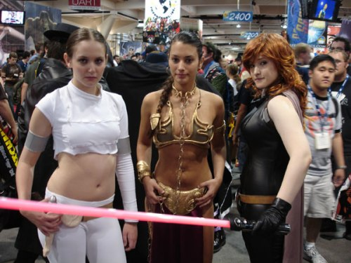 L-R. Padme Amidala, Annakin's wife, Luke's mom;  Princess Leia Organa, Annakin's Daughter, Luke's Sister; Mara Jade, Annakin's former employee, future daughter-in-law, Luke's wife, mother of Annakin, future grandson of first Annakin.