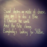 Eurythmics with cheesy lyrics