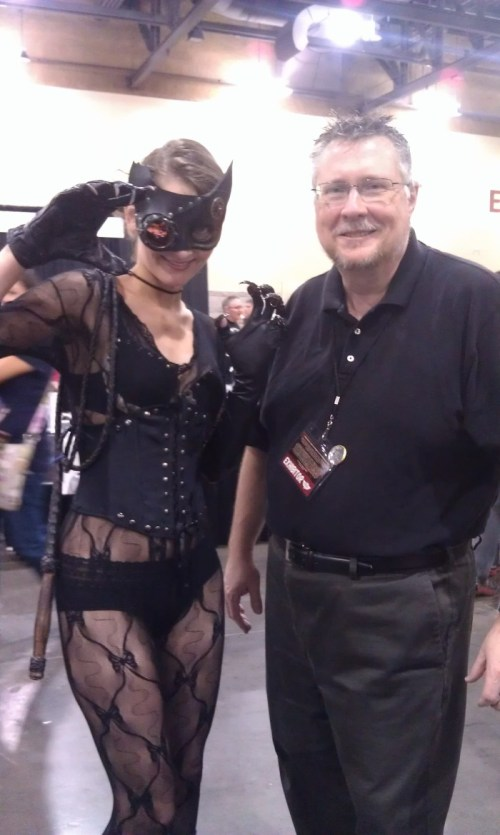 Cassandra S. Kyle as Steampunk Catwoman with Michael Bradley at Phoenix Comic Con 2013