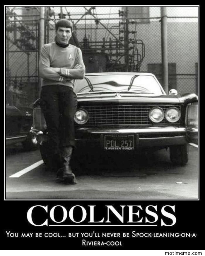 Coolness You May Be Cool But Youll Never Be Spock Leaning