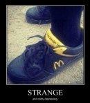 McDonalds, the sponsor of runners...