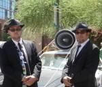 Bryan P Miller left, Blues Brothers