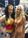 Toni Darling as Wonder Woman with friend