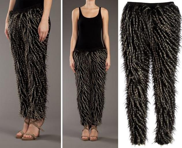 Semi transparent leggings with vpl - 5 5