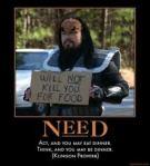 Klingon's do not beg
