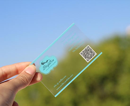 Frosted transparent business cards qr michael bradley time traveler frosted transparent business cards qr colourmoves