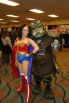Wonder Woman with a Gammorhean from Star Wars