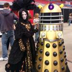 Queen of Naboo with a Dalek from Dr. Who