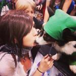 Jessica Nigri and a lucky dog