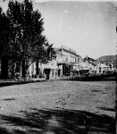 Store-lined street, Salt Lake City, Utah, 1869. Photograph by William H. Jackson. (Courtesy of the National Archives)