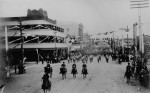 A military parade down the main street of Phoenix, Ariz., ca. 1888. (Courtesy of the National Archives)