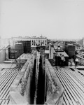 Airshaft of a dumbbell tenement, New York City, taken from the roof, ca. 1900. (Courtesy of the National Archives)