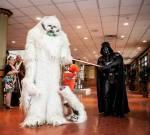 Darth Vader slicing a Wampa