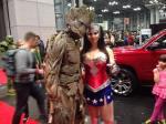 Groot and Wonder Woman