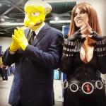 Mr. Burns with Cara Nicole as Black Widow