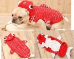 Dog-cosplay-clothes-red-Goldfish-design-puppy-doggie-pet-fleece-jacket-XS-XL