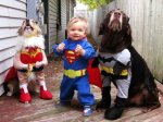 Wonder Woman, Superman and Batman - Justice League.  (Center might be a human...)