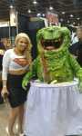 Supergirl and the eating ghost from Ghost Busters