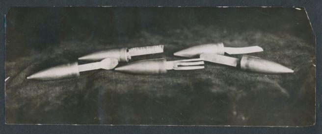 WW1 handmade trench silverware