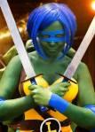 Toni Darling as a Teenage Mutant Ninja Turtle