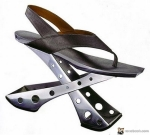 Not sure if a butterfly knife, ironing board or shoe