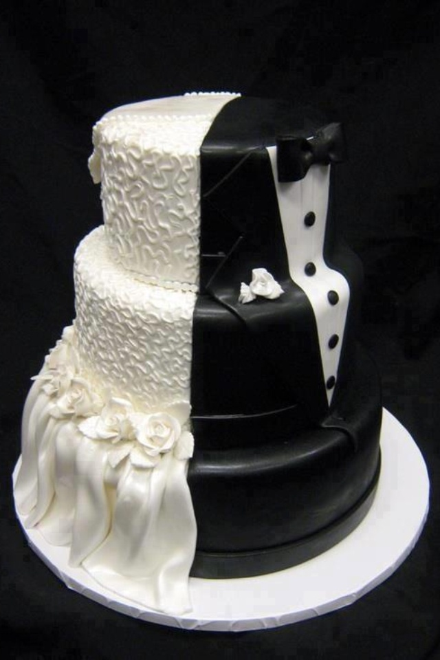 unique-white-and-black-wedding-cake-design | Michael Bradley ...