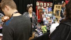 Patti Hultstrand, my publisher, selling my books...